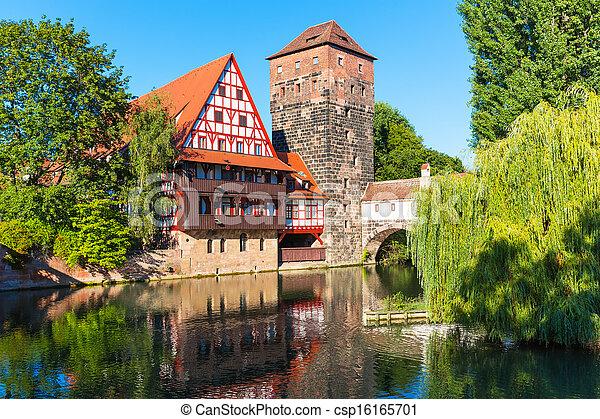 stadt, altes , deutschland, nürnberg - csp16165701