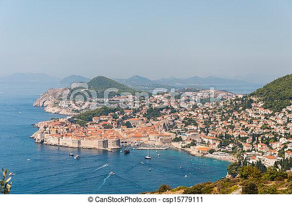 Altstadt von Dubrovnik in Croatia. - csp15779111