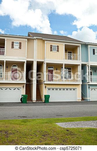 stadt, heime, vorhalle, garage, neu , süd carolina - csp5725071