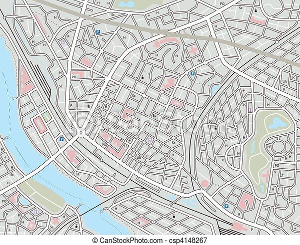 Irgendeine Stadtkarte - csp4148267