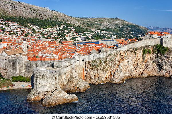 stadt, kroatien, altes , dubrovnik - csp59581585