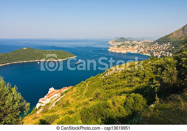 stadt, kroatien, altes , dubrovnik - csp13619951