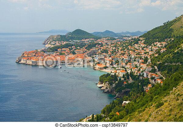 stadt, kroatien, altes , dubrovnik - csp13849797