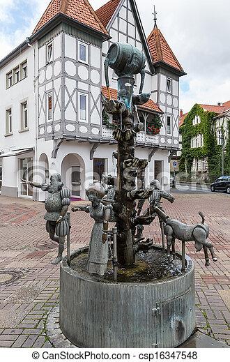 Great Stadt, Lemgo, Brunnen, Deutschland   Csp16347548