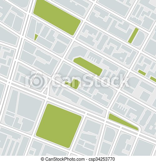 stadt, map. - csp34253770