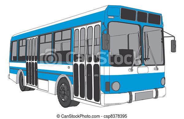 Stadt Modern Bus Stadt Vektor Modern Bus