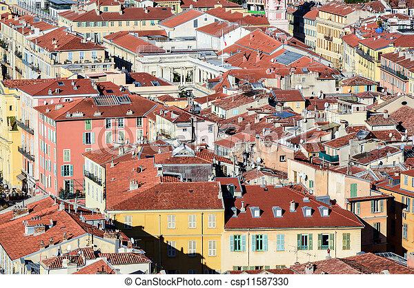 Blick auf die Altstadt von Nizza - csp11587330