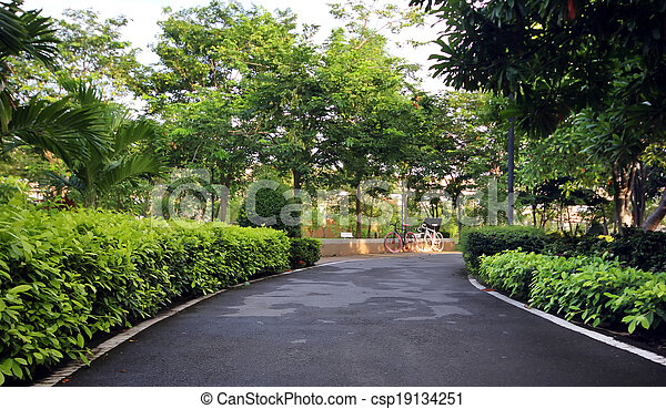 stadt- park, grün - csp19134251
