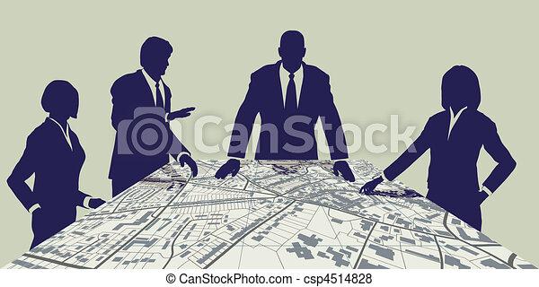 stadt, planer - csp4514828