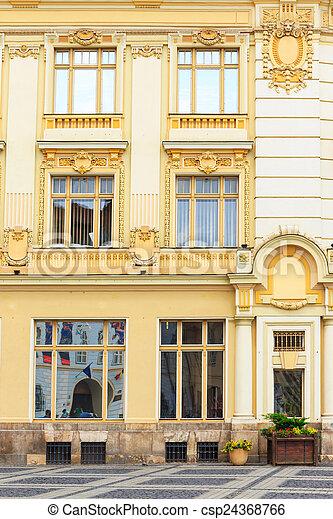 stadt, rumänien alt, zentrieren, sibiu, historische  - csp24368766