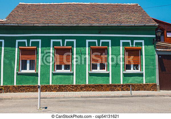 stadt, rumänien, zentrieren, medien, mittelalterlich, historische , transylvania - csp54131621