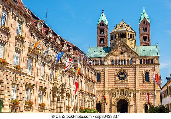 stadt, -, speyer, deutschland, kathedrale, halle - csp30433337