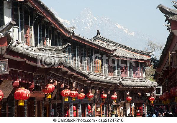 stadt, standort, yunnan, historisch, erbe, welt, lijiang - csp21247216