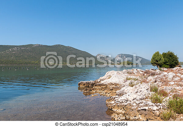 View of the mali ston town in croatia - csp21048954