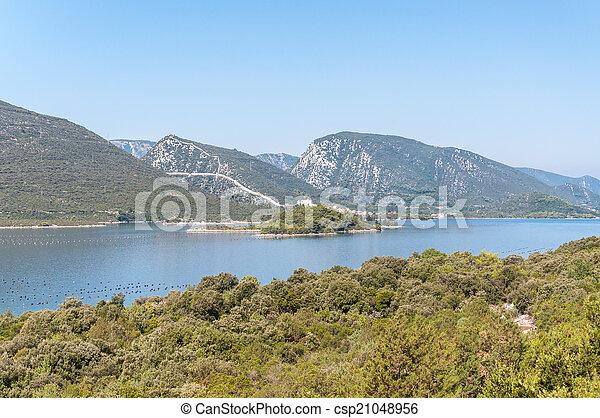 stadt, ston, ansicht, kroatien, mali - csp21048956