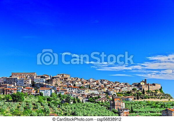 Stadt des chianciano terme in tuscany, italy - csp56838912