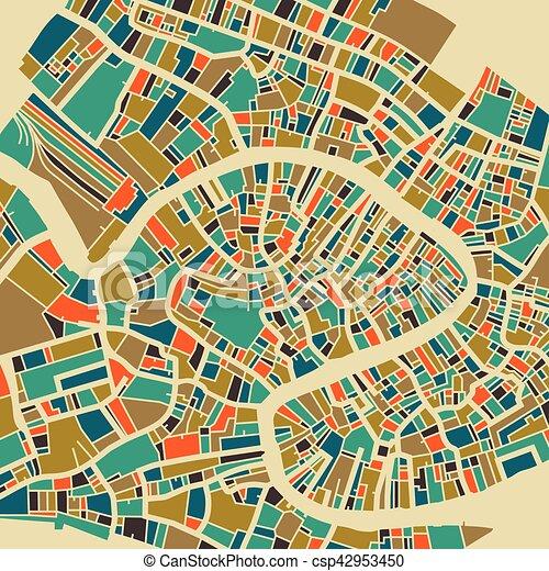 Venedig Karte.Stadt Venedig Plan Bunte