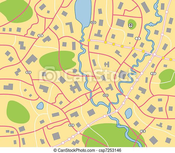 stadtlandkarte - csp7253146