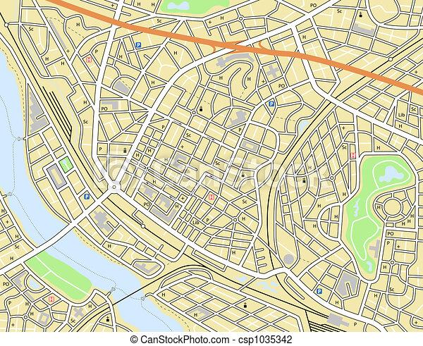 stadtlandkarte - csp1035342