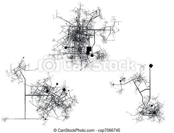 Stadtkarte - csp7066745