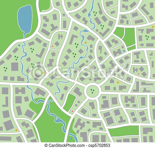stadtlandkarte - csp5702853