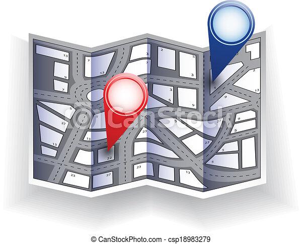 Stadtplan - csp18983279