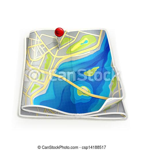 Stadtkarte - csp14188517