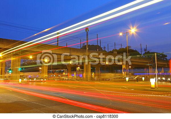 stadtzentrum, hong, beschäftigt, verkehr, kong - csp8118300