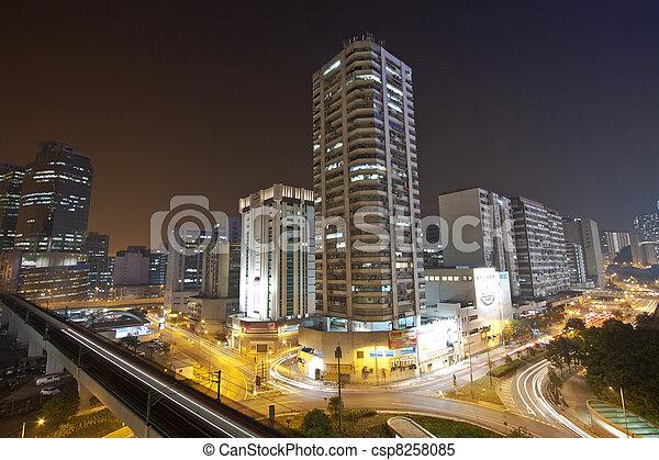 Verkehr in der Innenstadt von Hong Kong - csp8258085