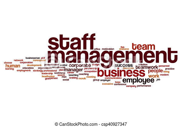 Staff management word cloud - csp40927347