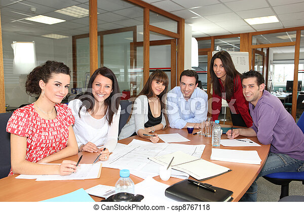 Staff meeting in an office - csp8767118