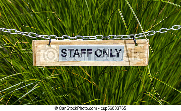 Staff Only Sign - csp56803765