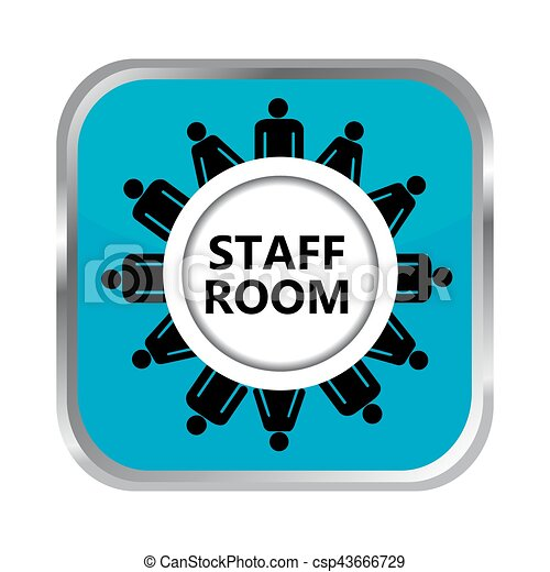 Staff room button - csp43666729