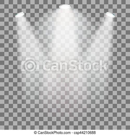 Stage illuminated spotlight - csp44210688
