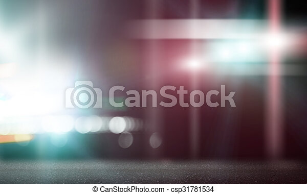 Stage Lights Background Image With Blurred And Beams