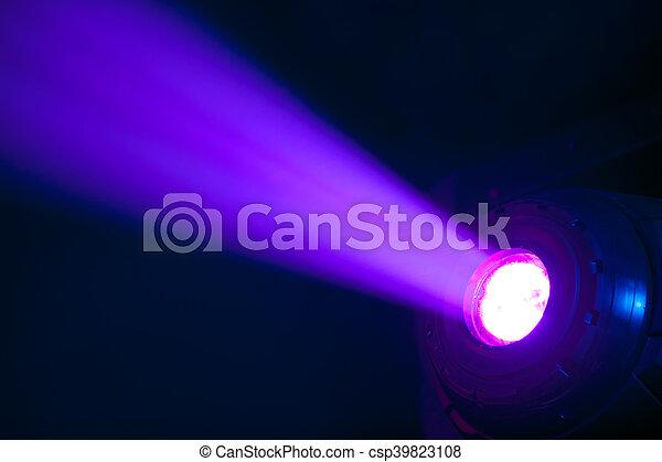 Stage Spot With Purple Light Beam