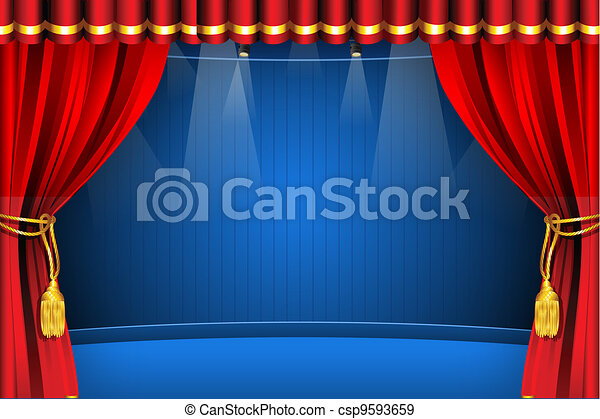 stage with curtain illustration of stage with flash light and curtain rh canstockphoto com sage clipart stage cartoon