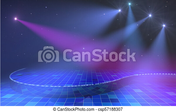 Stage with lights in blue - csp57188307