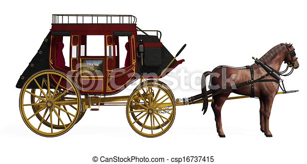 stagecoach with horses rh canstockphoto com Cartoon Stagecoach stagecoach clipart free