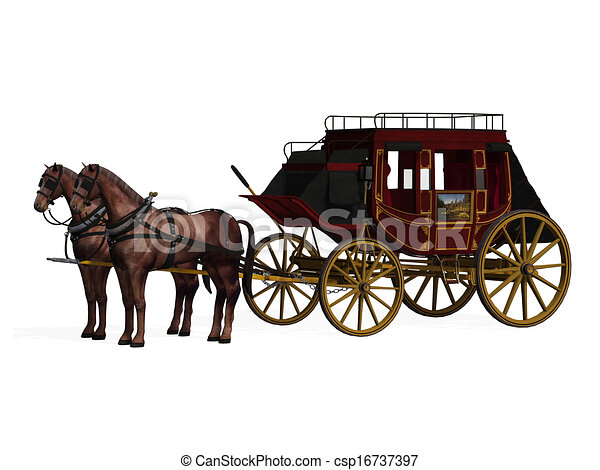 stagecoach with horses stock illustration search vector clipart rh canstockphoto com wells fargo stagecoach clipart Stagecoach Logo