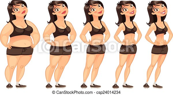 Stages of weight loss - csp24014234