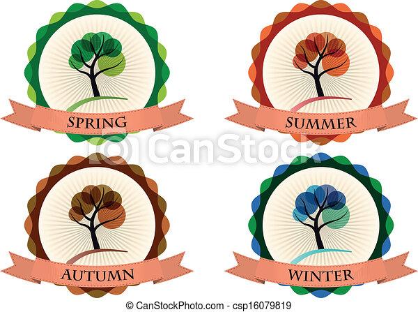 stagione, distintivo - csp16079819