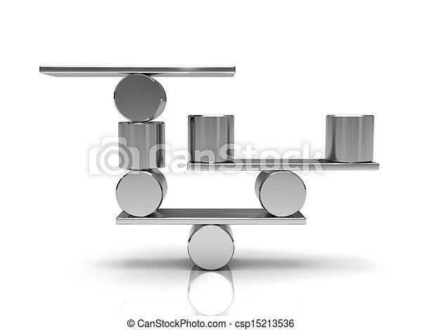 stahl, ausgleichen, zylinder - csp15213536