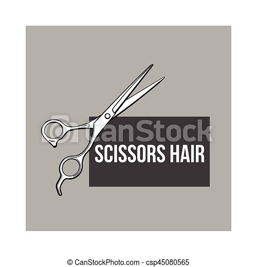 Stahl Skizze Friseur Rostfrei Stil Abbildung Vektor Schere