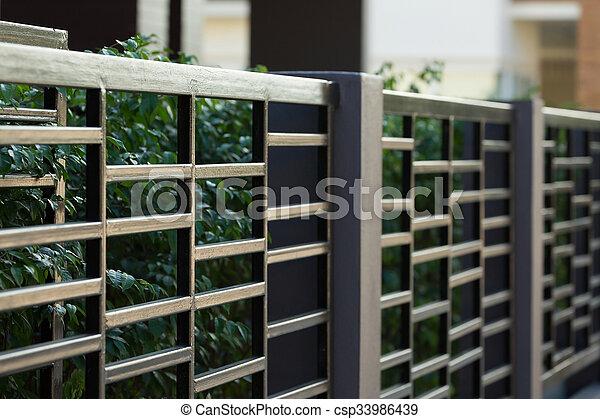 Stahl Stil Zaun Wohnhaeuser Modern Schwarz Haus