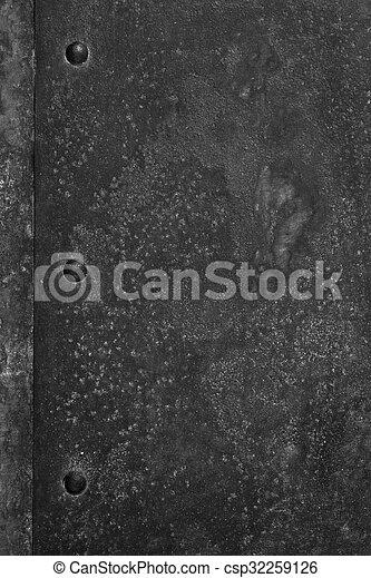 Schwarzer Stahl stahl verrostet schwarzer hintergrund stahlplatte stockfoto