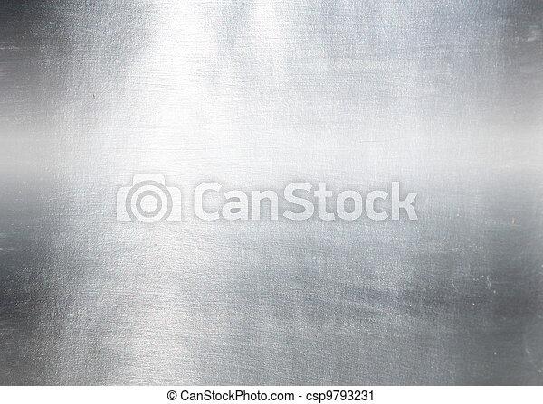 Metallplatte aus Stahl. Hi Res Textur - csp9793231