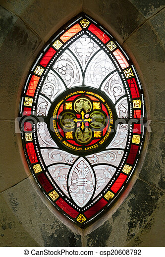 Stained glass. Dublin, Ireland - csp20608792