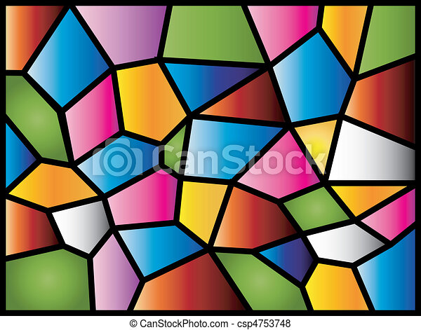 Stained Glass A Colourful Modern Stained Glass Design