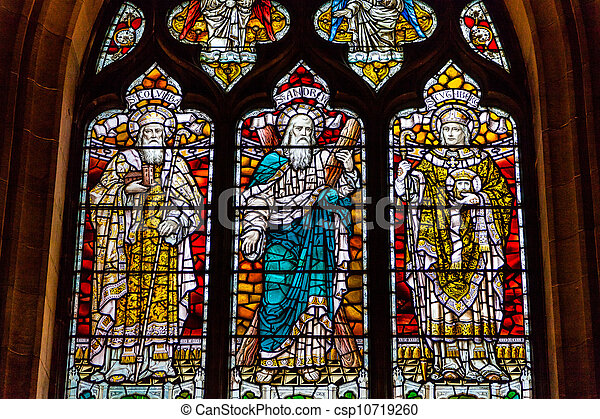 stained glass in a church window - csp10719260